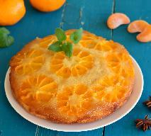 Ciasto mandarynkowe - odwracane [mandarynkowa tarta tatin]