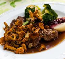 Comber z sarny z sosem kurkowym: przepis na sarninę
