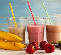 Truskawkowo–bananowe smoothie