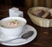 Zupa z porów z paluszkami surimi