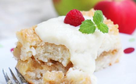 Kremowy ryż zapiekany z jabłkami i budyniem - deser nie tylko dla dzieci