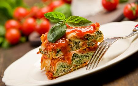 Lasagne ze szpinakiem i serem ricotta